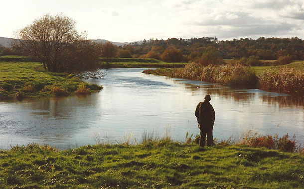 Edward surveying the river at Hardham
