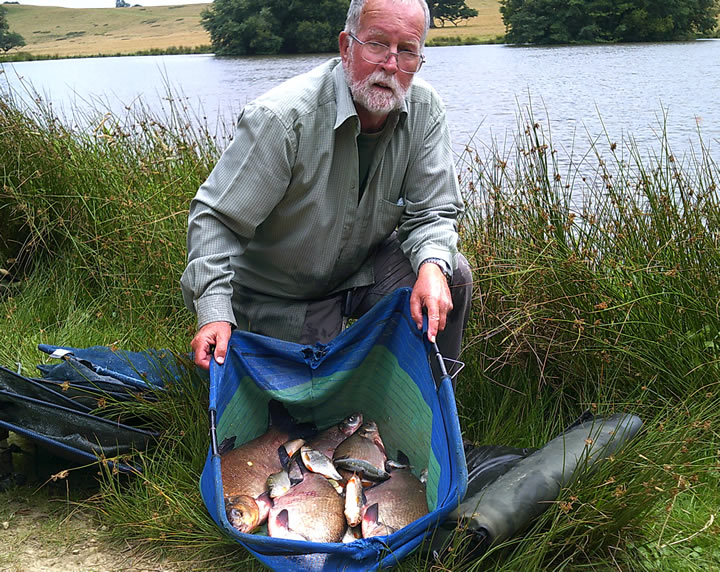 Colin with his second placed bag of Bream and Roach
