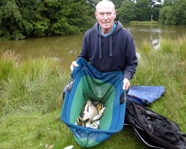 John with his mixed bag of fish