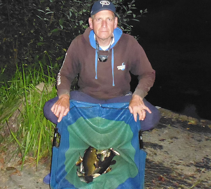 Keith with his Tench and small Rudd