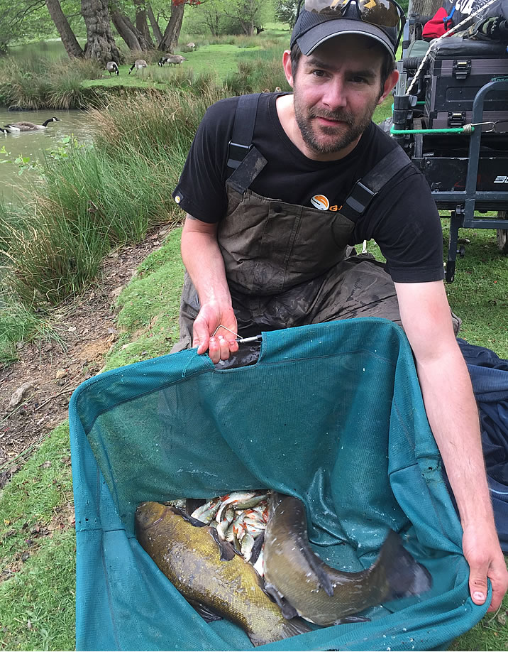 Kitch with his Tench