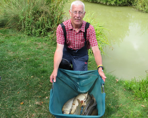 Mick Greenway won the Bailiffs Cup with this bag of Carp