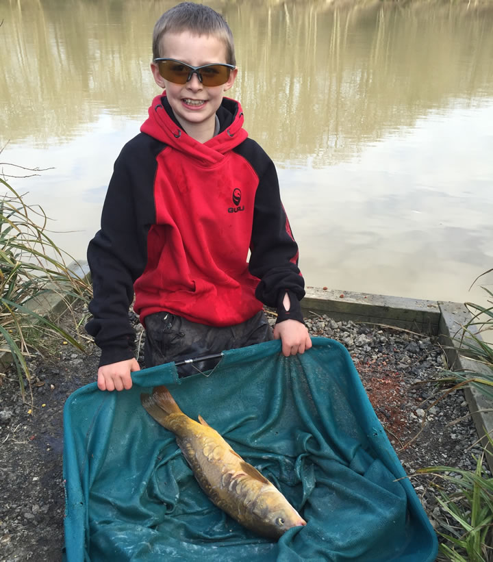 Ollie with his Carp
