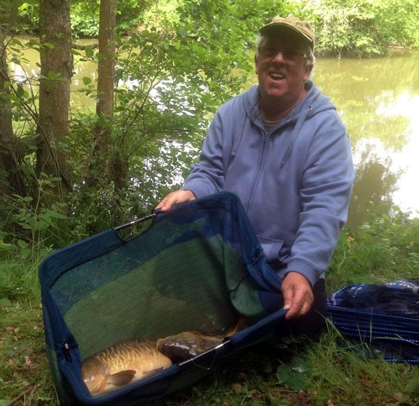 Steve Speller took top spot on the Lower Pond