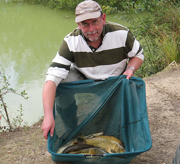 Vince Herringshaw with some of his carp.