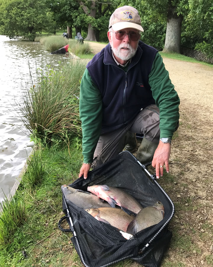 Colin with his four Bream