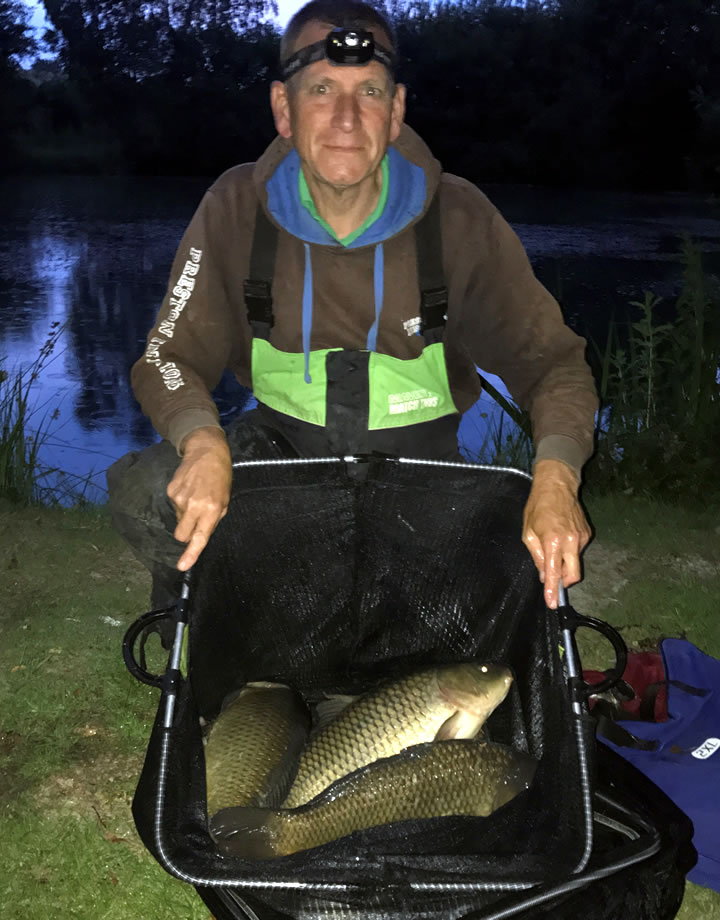 Keith with his pole caught Carp