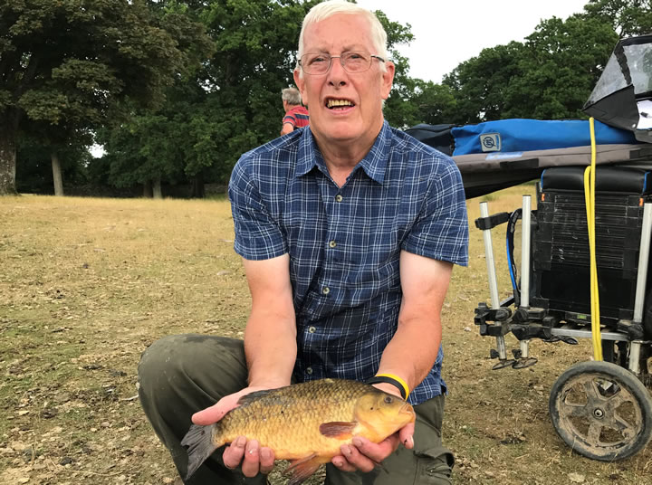 Mick with his 2lb 6oz Crucian