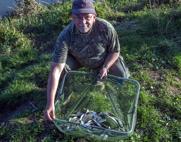 Vince with his pole caught bag of silvers