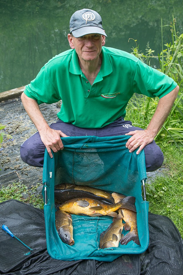 Keith with his carp net
