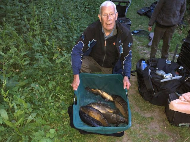 Mick with his Carp from Hurston middle pond